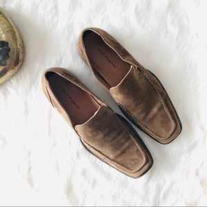 Hush Puppies Tan Suede Loafers Slip On Wave Reflex